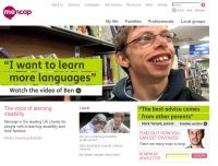 Mencap homepage with video
