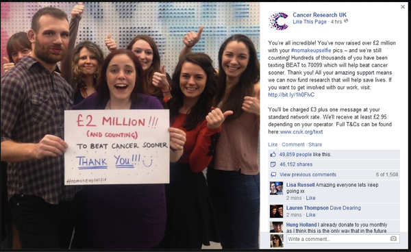 Cancer Research UK Reaches £2 million
