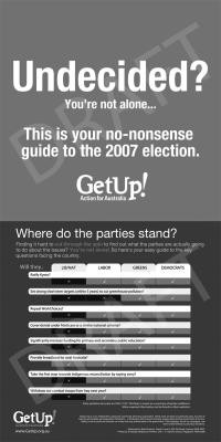 Activism Around an Election: AU 07 Undecided image